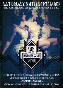 Gin House Burlesque Poster